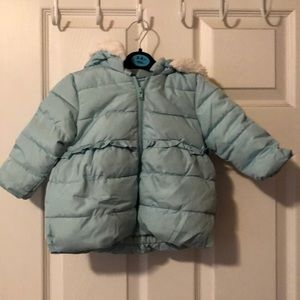 Gently used Gymboree puff jacket w/removable hood